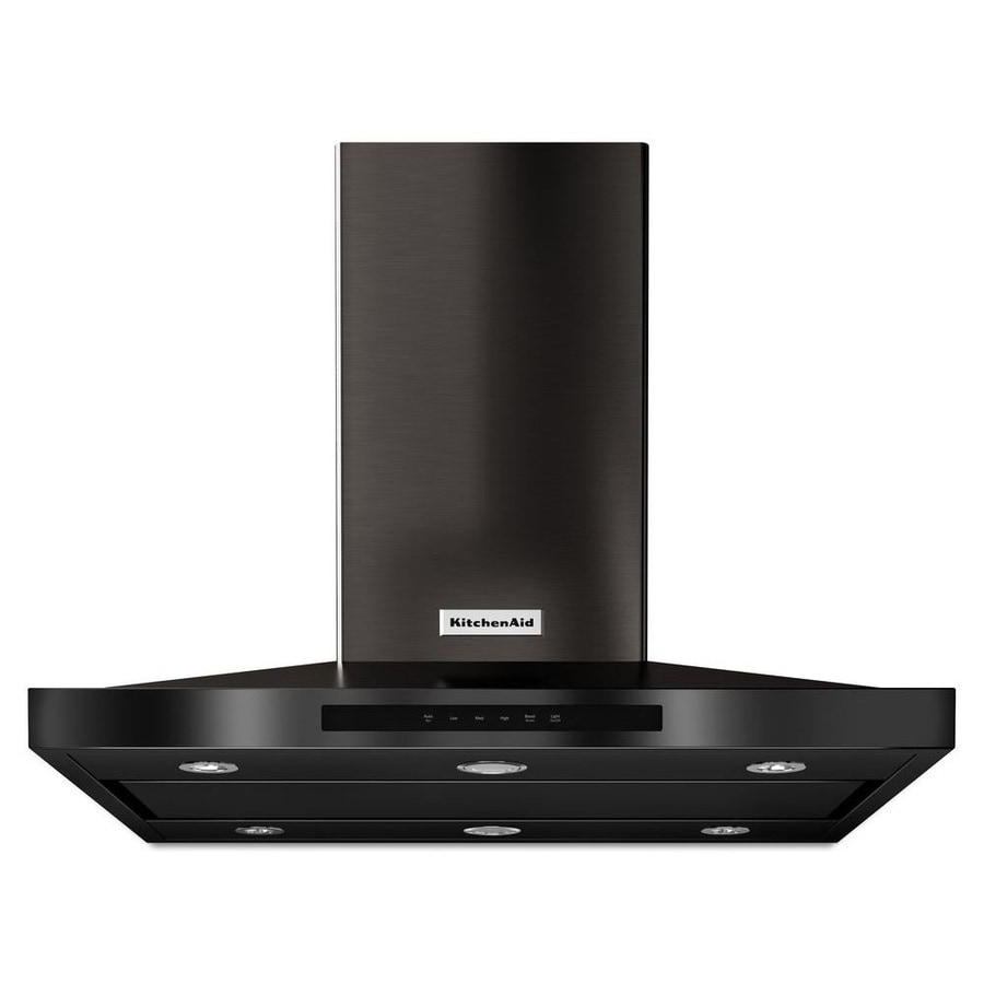 KitchenAid Convertible Island Range Hood (Black Stainless Steel) (Common: 36-in; Actual: 36-in)