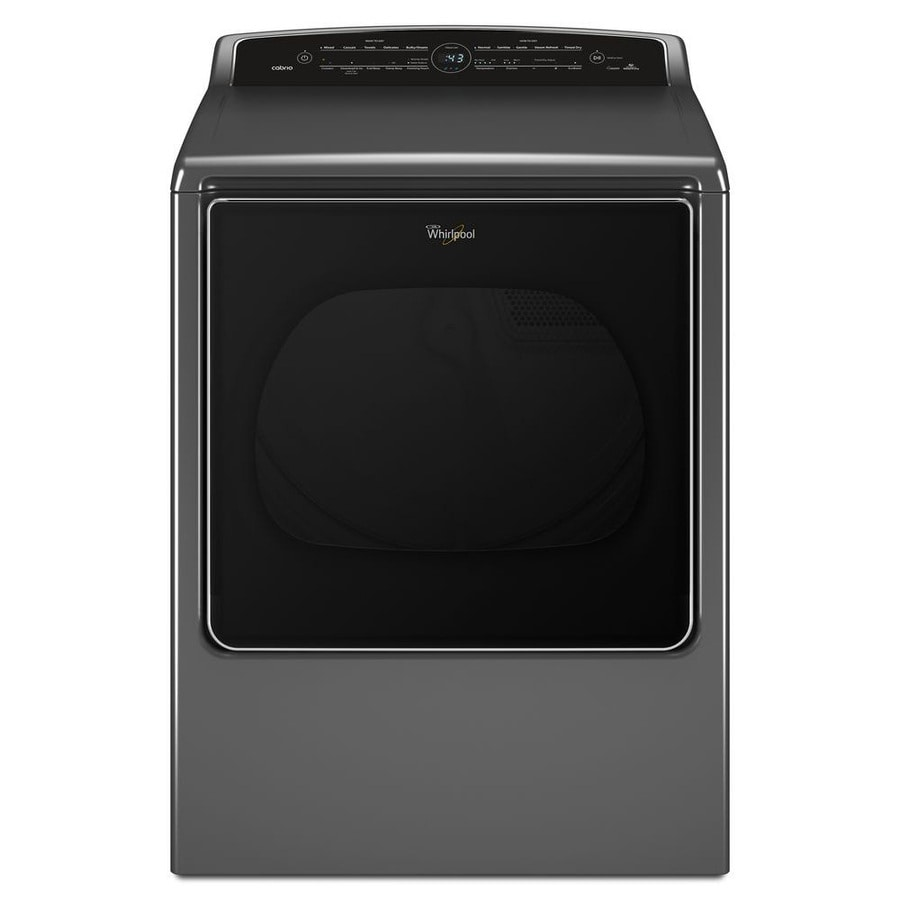 Whirlpool Cabrio 8.8-cu ft Electric Dryer with Steam Cycle (Chrome Shadow) ENERGY STAR