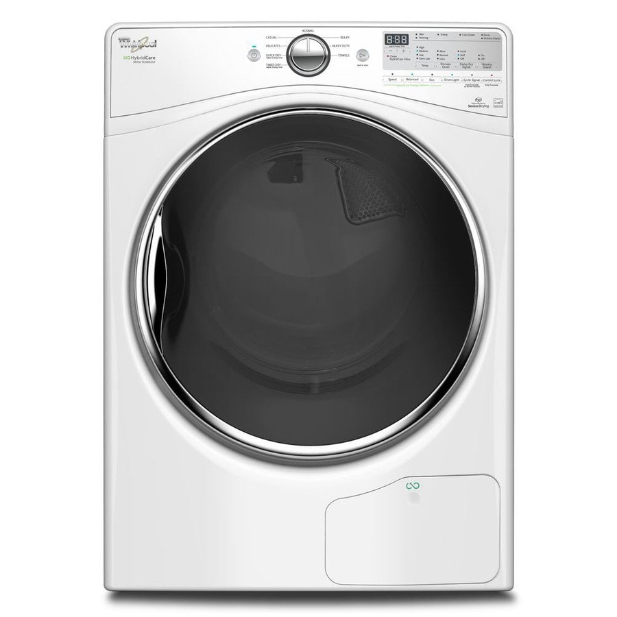 Whirlpool Ventless Heat Pump 7.4-cu ft Stackable Electric Dryer (White) ENERGY STAR