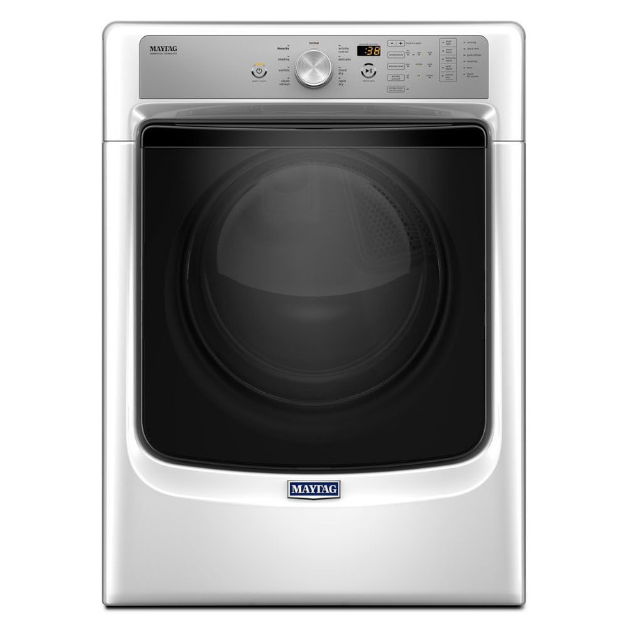 Maytag 7.4-cu ft Stackable Electric Dryer with Steam Cycles (White) ENERGY STAR