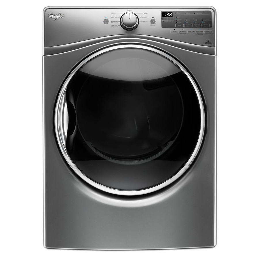 Whirlpool 7.4-cu ft Stackable Gas Dryer with Steam Cycle (Chrome Shadow)