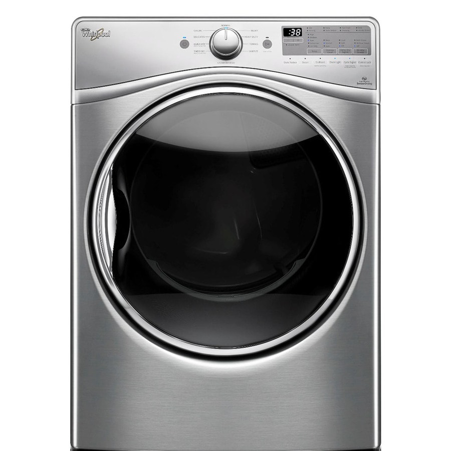 Whirlpool 7.4-cu ft Stackable Gas Dryer with Steam Cycle (Diamond Steel)