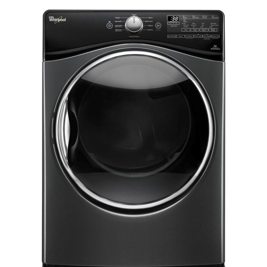 Whirlpool 7.4-cu ft Stackable Gas Dryer with Steam Cycle (Black Diamond)