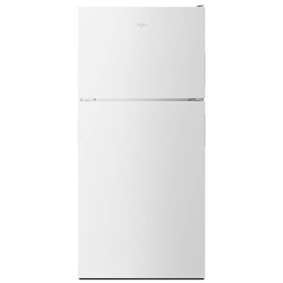 Whirlpool 18.2-cu ft Top-Freezer Refrigerator with Single Ice Maker (White) ENERGY STAR