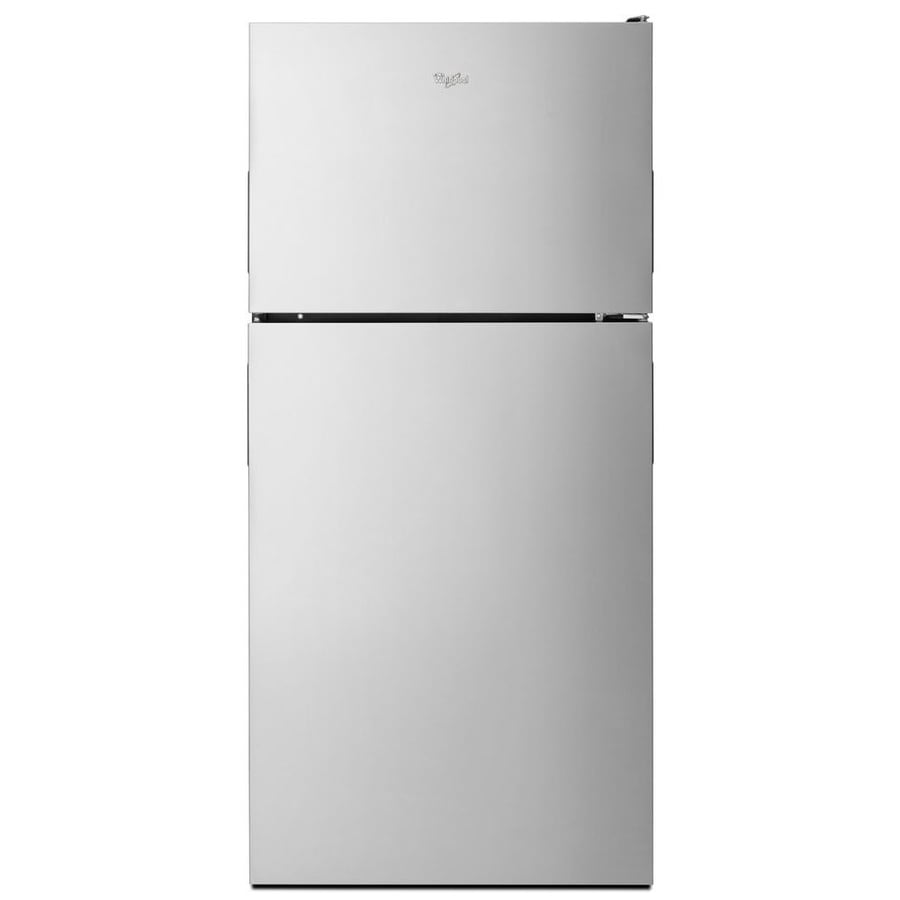 Whirlpool 18.2-cu ft Top-Freezer Refrigerator with Single Ice Maker (Stainless Steel) ENERGY STAR