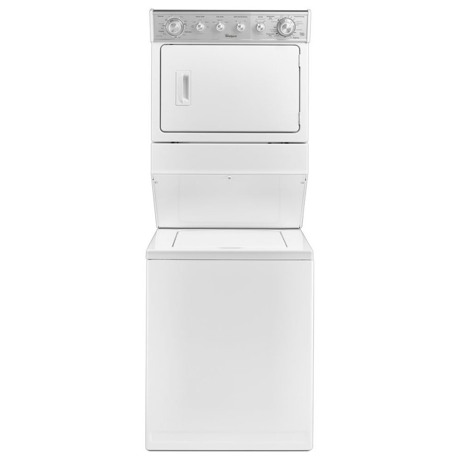 Shop Whirlpool Electric Stacked Laundry Center With 2 5 Cu