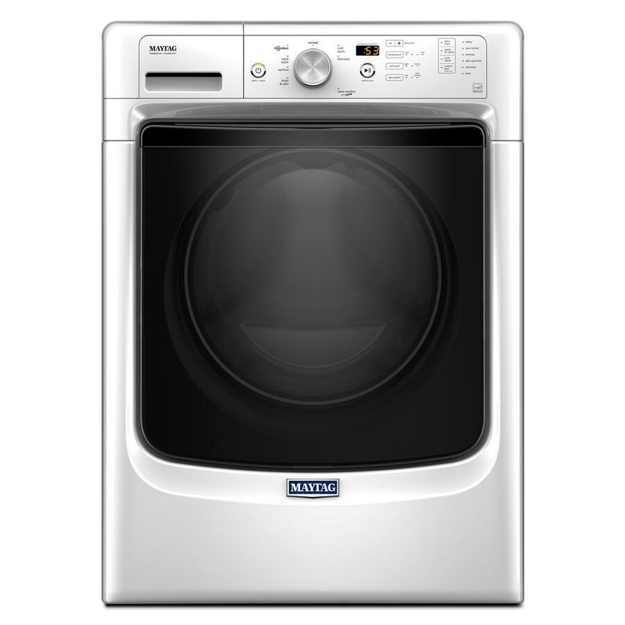 Maytag 4.36-cu ft High-Efficiency Stackable Front-Load Washer with Steam Cycle (White) ENERGY STAR