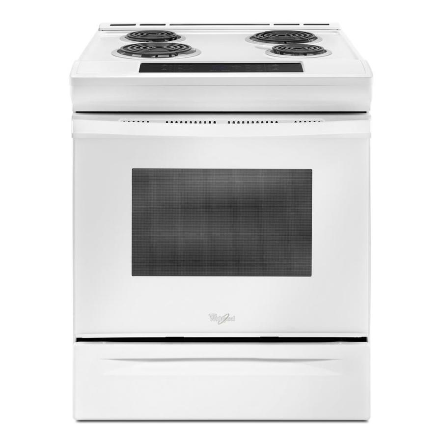 Whirlpool 4-Element Self-Cleaning Slide-In Electric Range (White) (Common: 30-In; Actual 29.875-In)