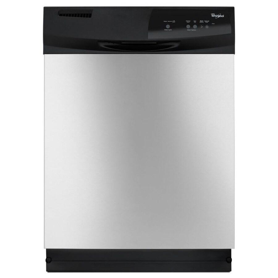 Whirlpool 63-Decibel Built-In Dishwasher (Stainless Steel) (Common: 24-in; Actual: 23.875-in)