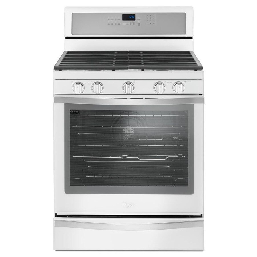 Whirlpool 5-Burner Freestanding Convection Gas Range (White Ice) (Common: 30-in; Actual: 29.875-in)