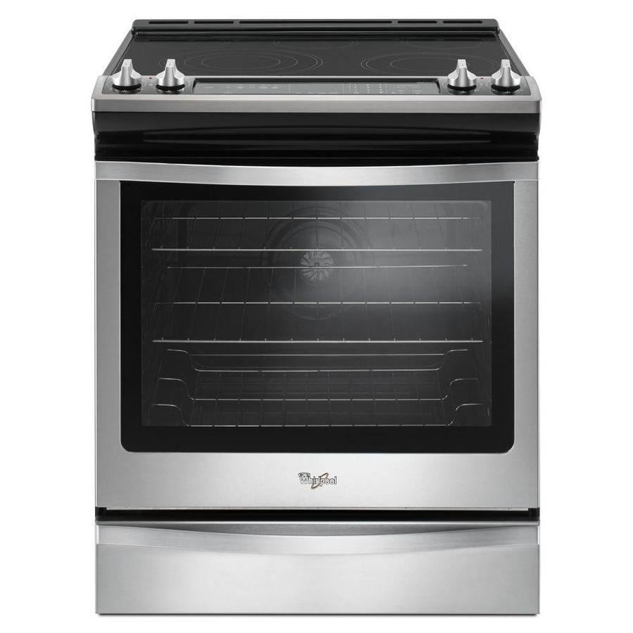 Whirlpool Smooth Surface 5-Element Self-Cleaning Slide-In Convection Electric Range (Stainless Steel) (Common: 30-in; Actual 29.875-in)