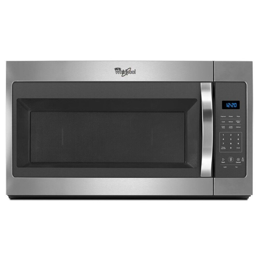 Shop Whirlpool 1.7-cu ft Over-the-Range Microwave (Stainless Steel) (Common: 30-in; Actual: 30 ...