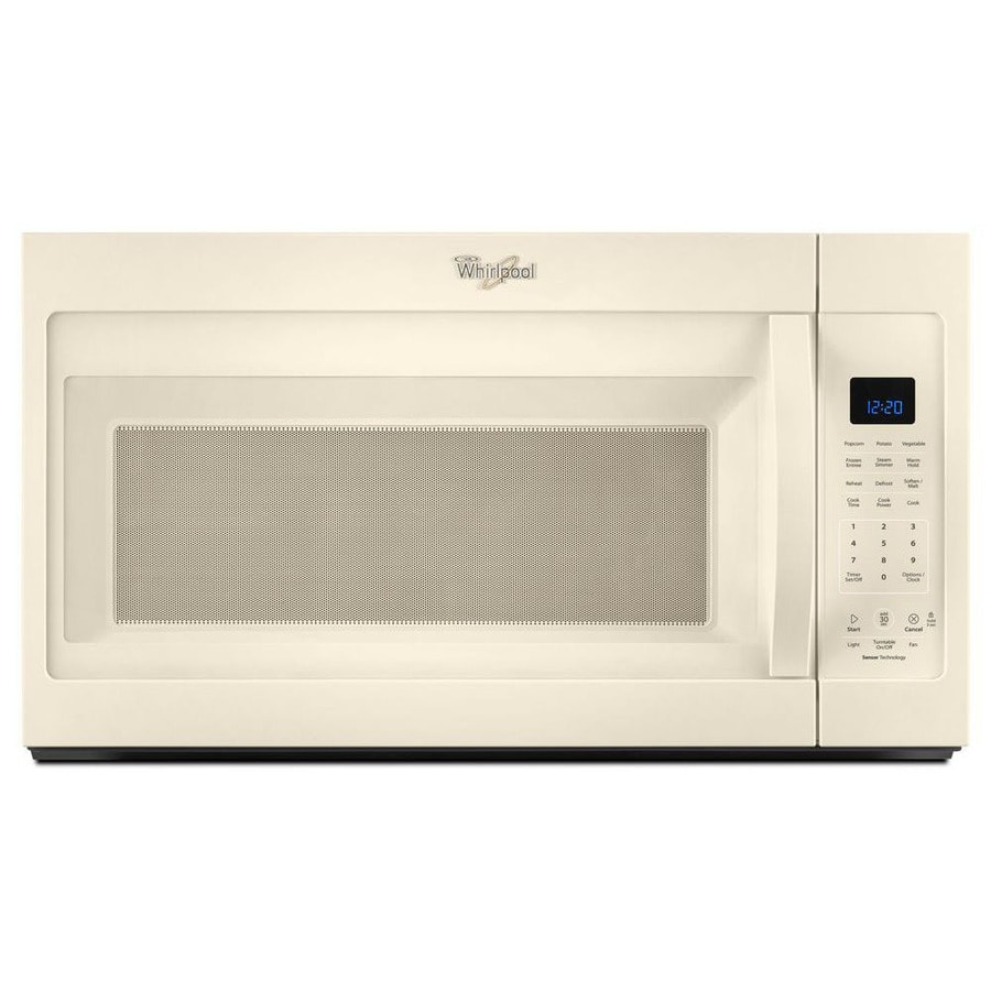 Whirlpool 1.9-cu ft Over-the-Range Microwave with Sensor Cooking Controls (Biscuit) (Common: 30-in; Actual: 30-in)
