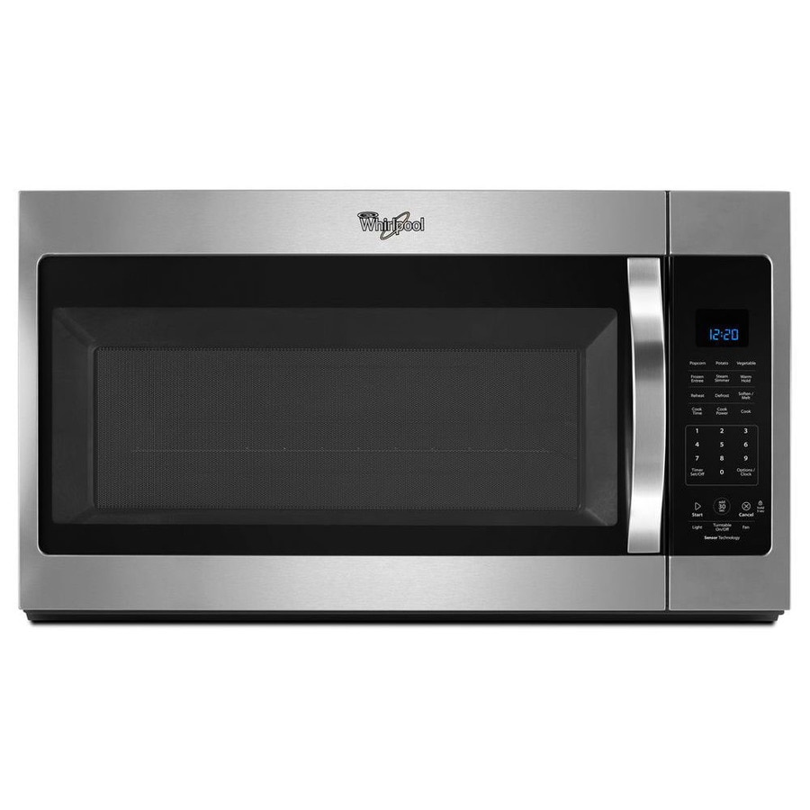 Whirlpool 1.9-cu ft Over-the-Range Microwave with Sensor Cooking Controls (Stainless Steel) (Common: 30-in; Actual: 30-in)