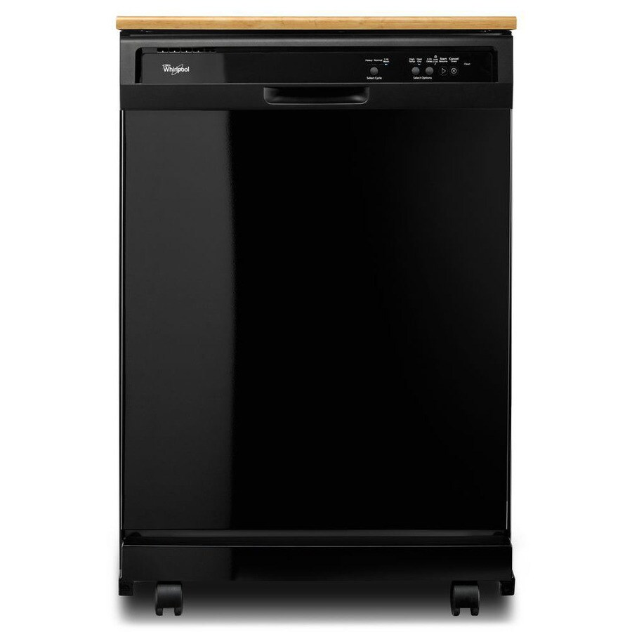 Whirlpool 24.125-in 55-Decibel Portable Dishwasher (Black)