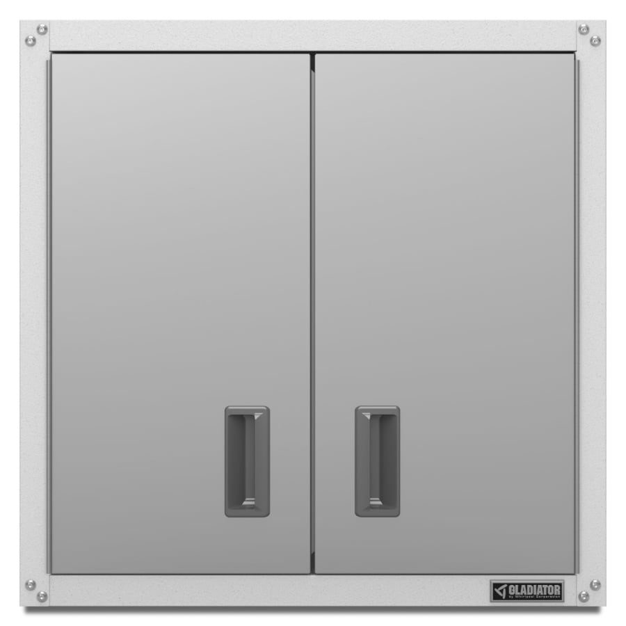 Gladiator 28-in W x 28-in H x 12-in D Steel Wall-Mount Garage Cabinet