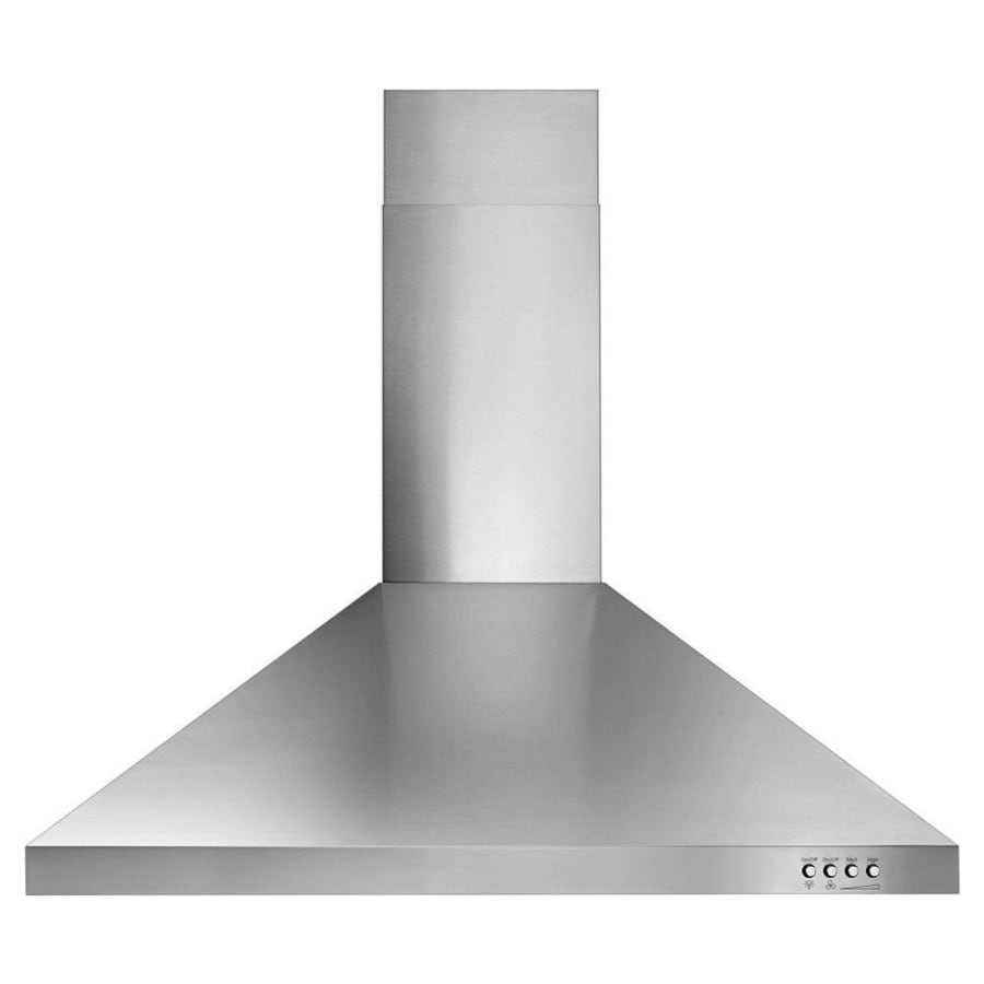 shop whirlpool convertible wall mounted range hood stainless steel 30 in actual 30 in at. Black Bedroom Furniture Sets. Home Design Ideas
