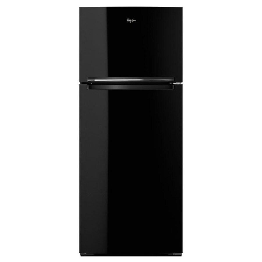 Whirlpool 17.7-cu ft Top-Freezer Refrigerator (Black)