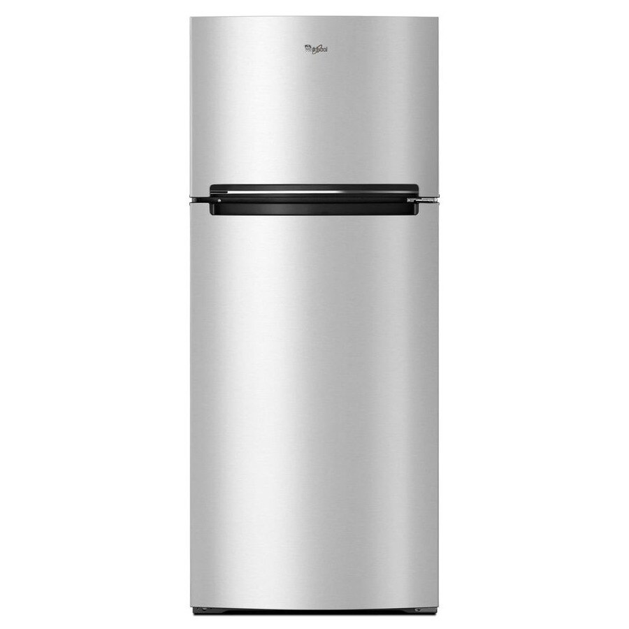 Whirlpool 17.7-cu ft Top-Freezer Refrigerator (Monochromatic Stainless Steel)