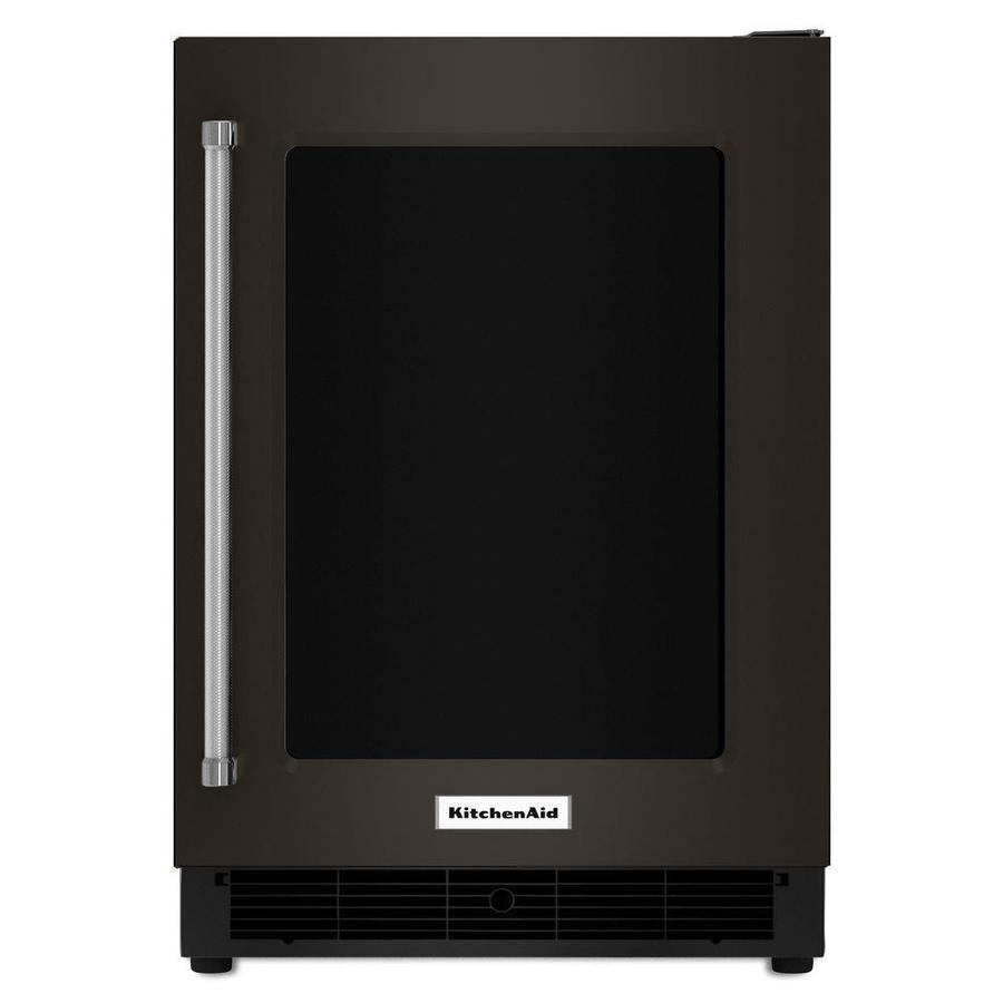 KitchenAid 5.1-cu ft Built-In/Freestanding Compact Refrigerator (Black Stainless)