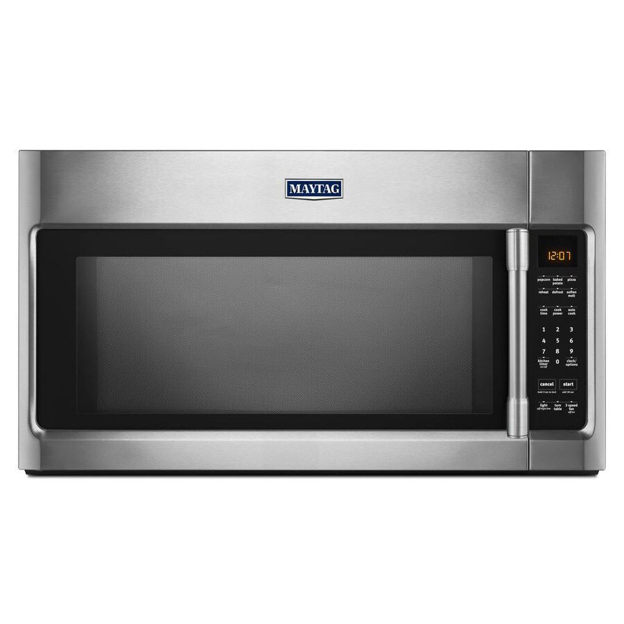 Maytag 2-cu ft Over-the-Range Microwave with Sensor Cooking Controls (Fingerprint Resistant Stainless Steel) (Common: 30-in; Actual: 30-in)