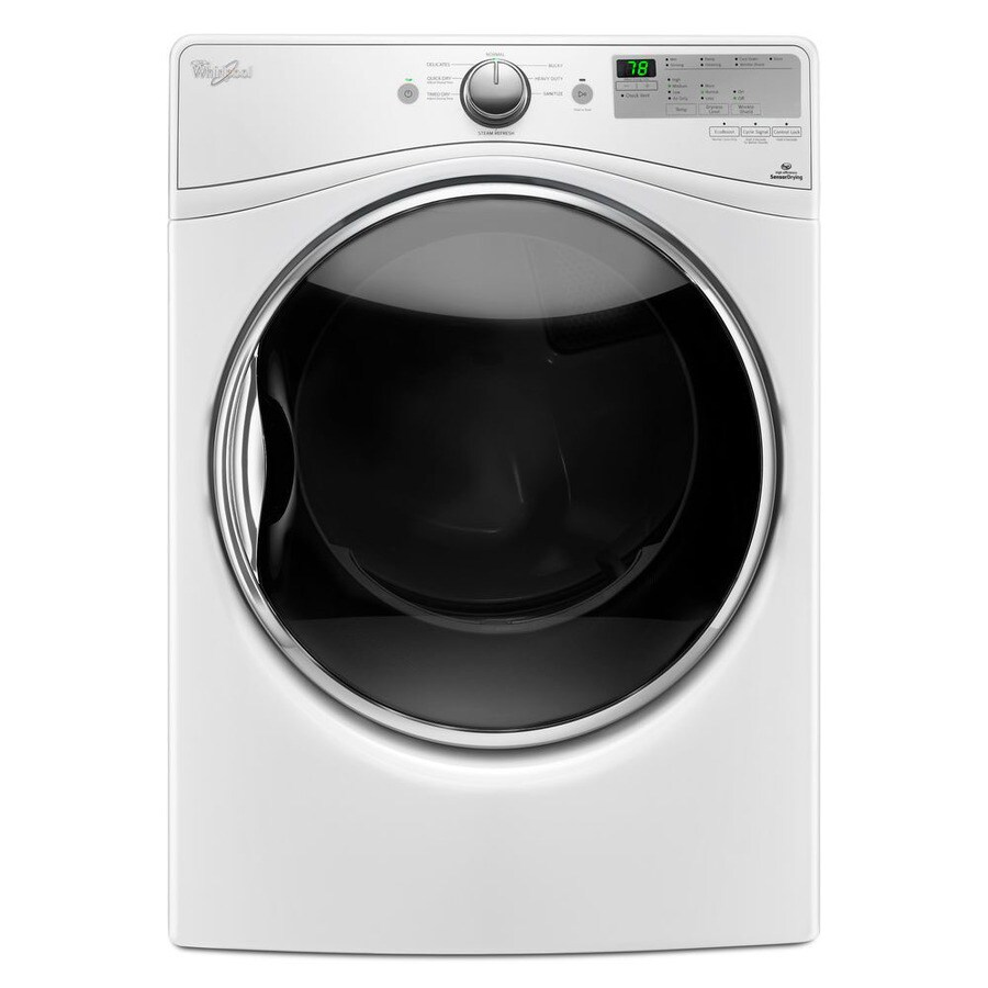 Whirlpool 7.4-cu ft Stackable Gas Dryer with Steam Cycle (White)