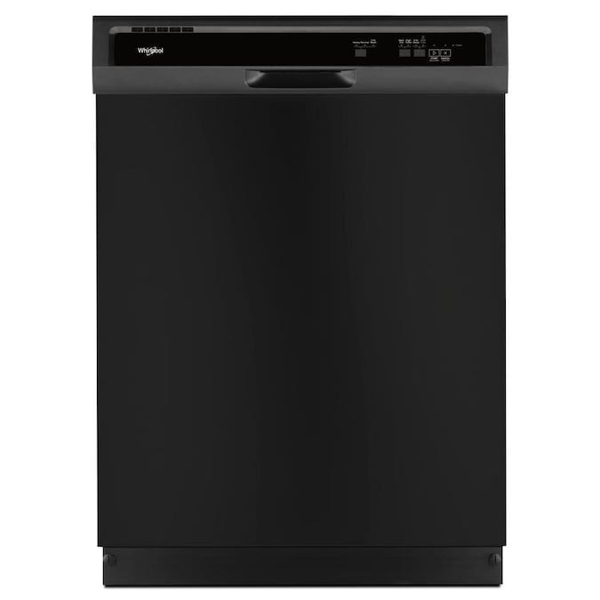 Whirlpool 55-Decibel Front Controls 24-in Built-In Dishwasher with 1-Hour Wash Cycle - Black