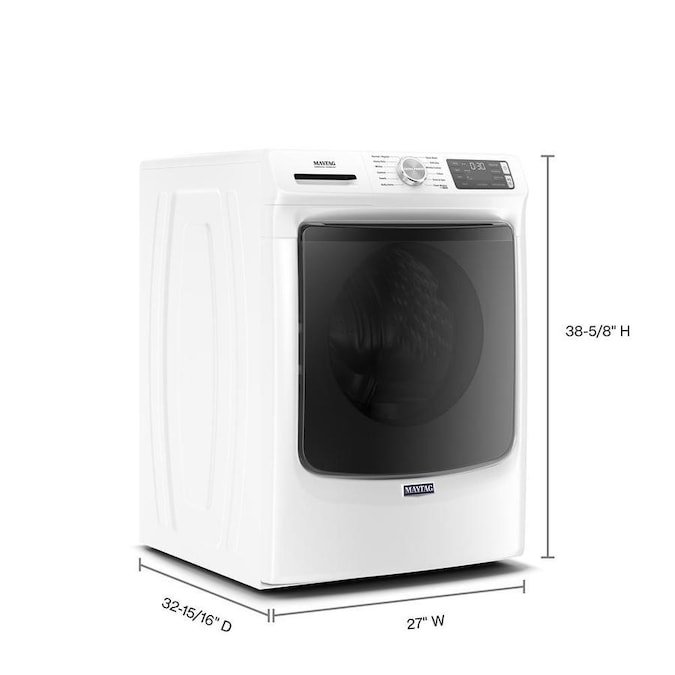 Maytag 4.8-cu ft High Efficiency Stackable Steam Cycle ...