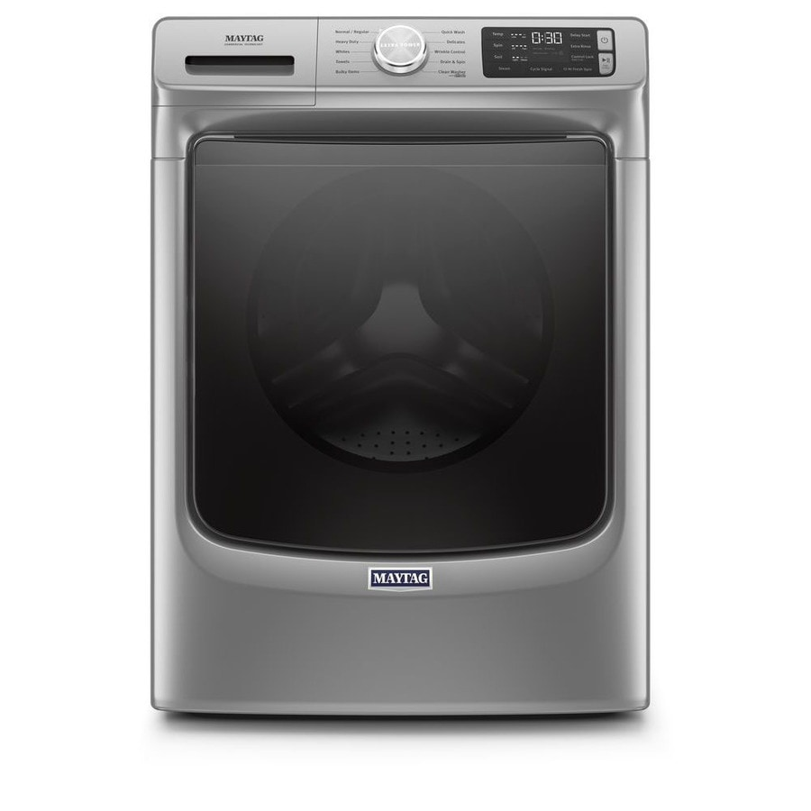 Maytag 4 5 Cu Ft High Efficiency Front Load Washer With Extra Power And 12 Hr Fresh Spin Metallic Slate In The Front Load Washers Department At Lowes Com