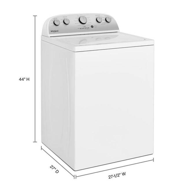 Whirlpool 3 8 Cu Ft High Efficiency Top Load Washer With Soaking Cycle White In The Top Load Washers Department At Lowes Com