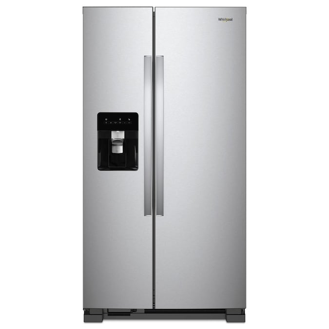 Whirlpool 24.6-cu ft Side-by-Side Refrigerator with Ice Maker (Fingerprint-Resistant Stainless Steel)