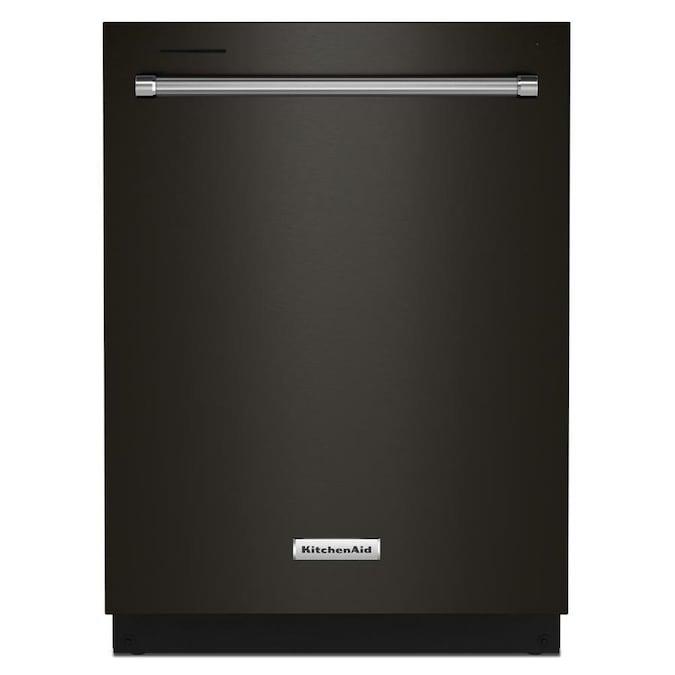 KitchenAid 44-Decibel Top Control 24-in Built-In Dishwasher (Fingerprint-Resistant Black Stainless Steel) ENERGY STAR