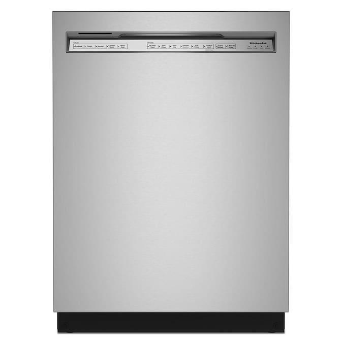 KitchenAid 39-Decibel Front Control 24-in Built-In Dishwasher (Fingerprint-Resistant Stainless Steel) ENERGY STAR