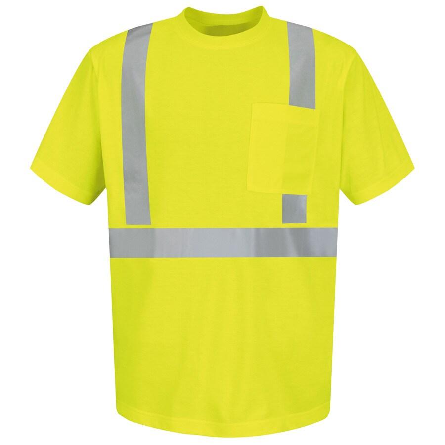 Red Kap Medium Safety Green High Visibility Reflective T-Shirt