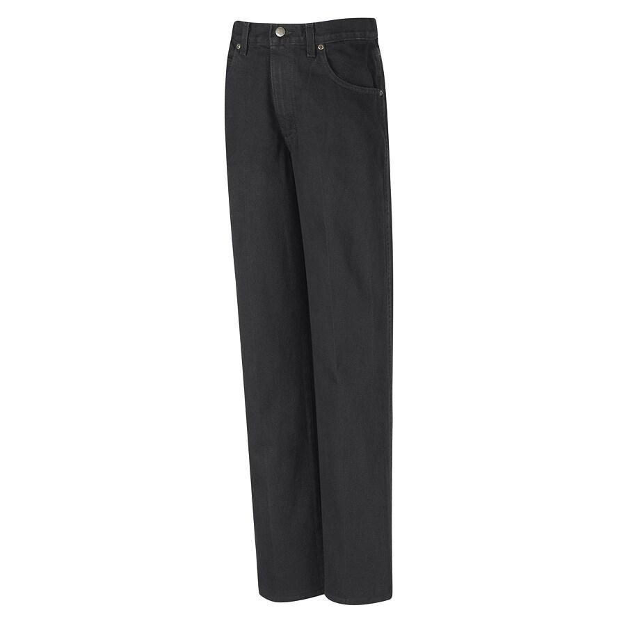 Red Kap Men's 44 x 30 Prewashed Black Denim Jean Work Pants