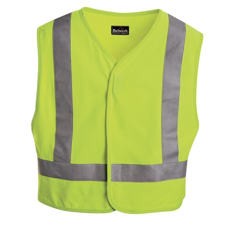 Bulwark 3XL Yellow Modacrylic/Aramid High/Enhanced Visibility Flame Resistant Safety Vest