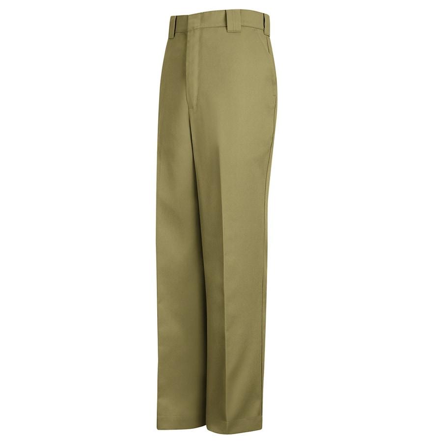 Red Kap Men's 28 x 34 Khaki Twill Uniform Work Pants