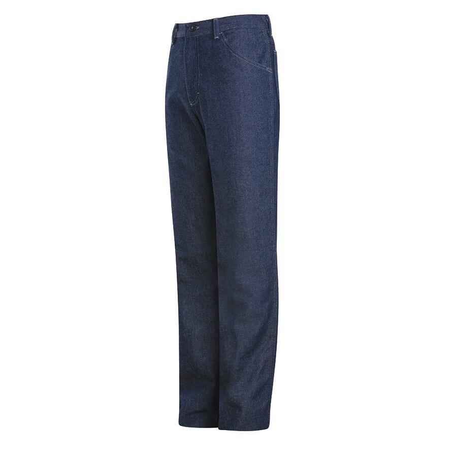 Bulwark Men's 40 x 30 Blue Denim Jean Work Pants