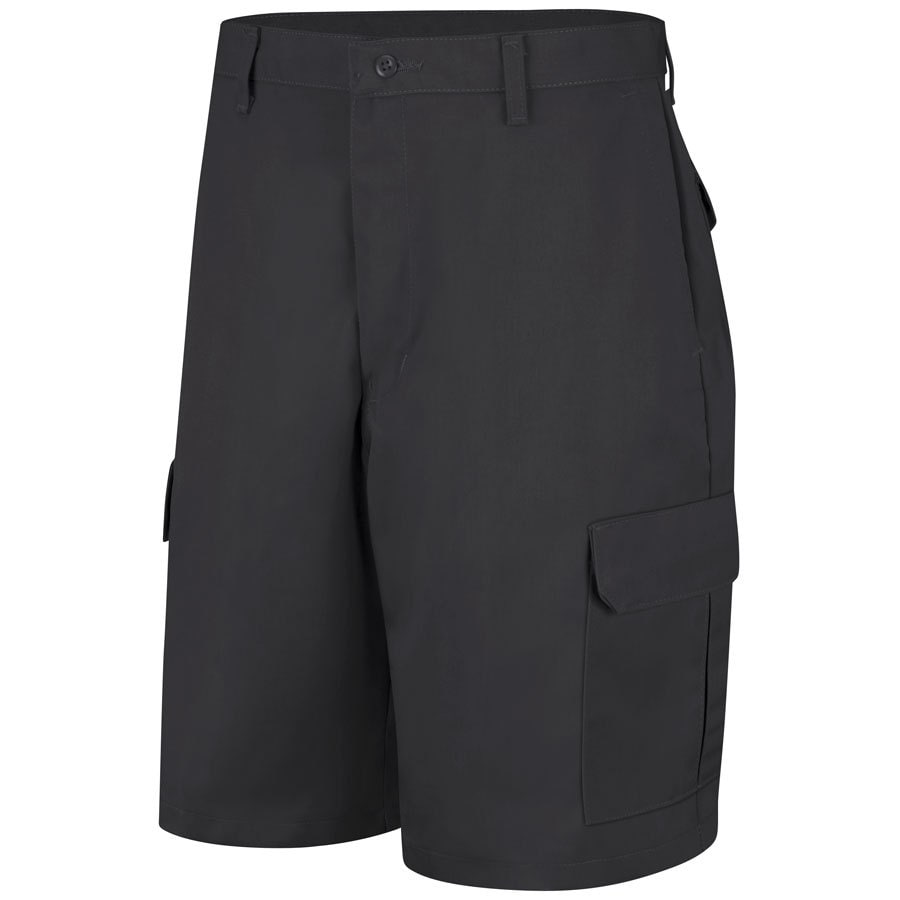 Red Kap Men's 30 Black Twill Cargo Work Shorts