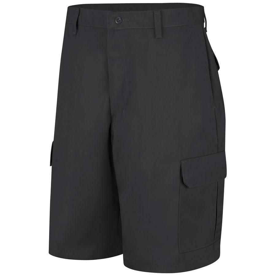 Red Kap Men's 32 Black Twill Cargo Work Shorts