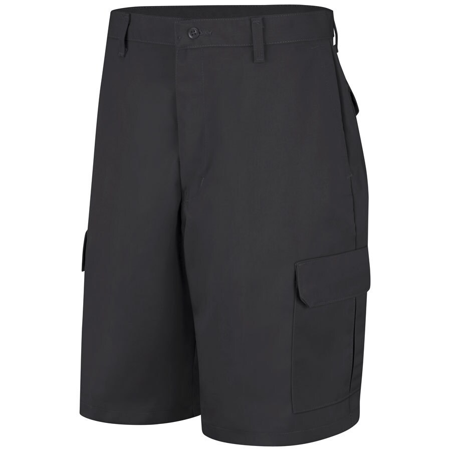 Red Kap Men's 48 Black Twill Cargo Work Shorts