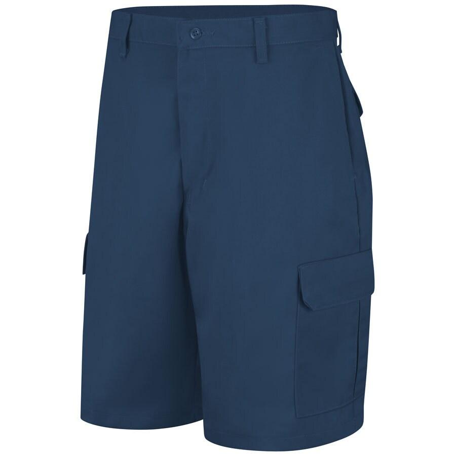 Red Kap Men's 32 Navy Twill Cargo Work Shorts