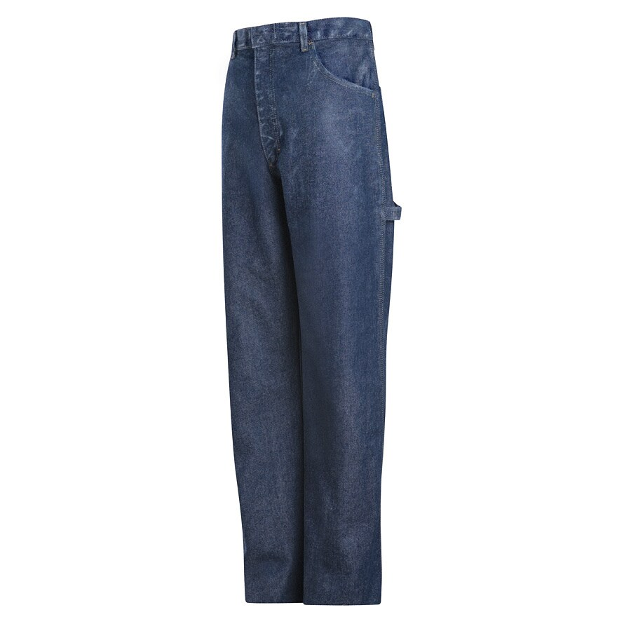 Bulwark Men's 48 x 30 Stonewash Denim Jean Work Pants