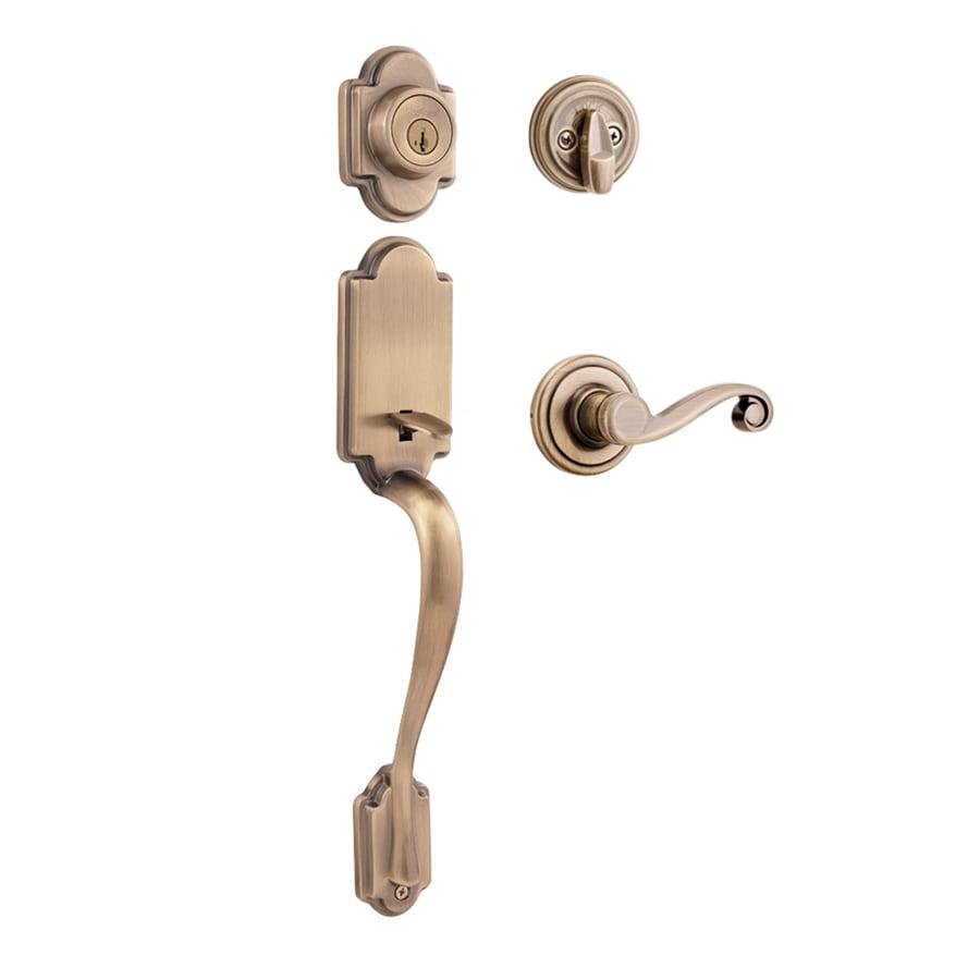 Shop Kwikset Signature Arlington Smartkey Antique Brass