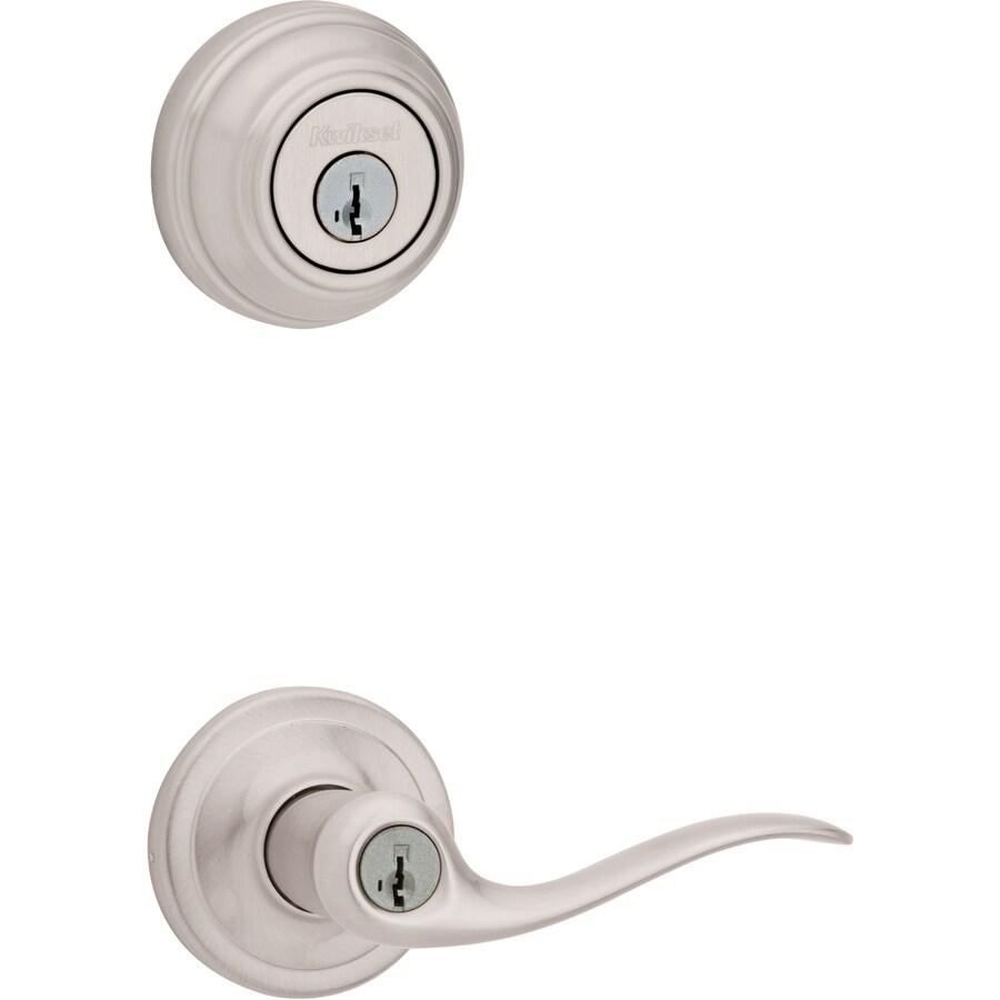 Kwikset Tustin SmartKey Satin Nickel Residential Keyed Entry Door Lever