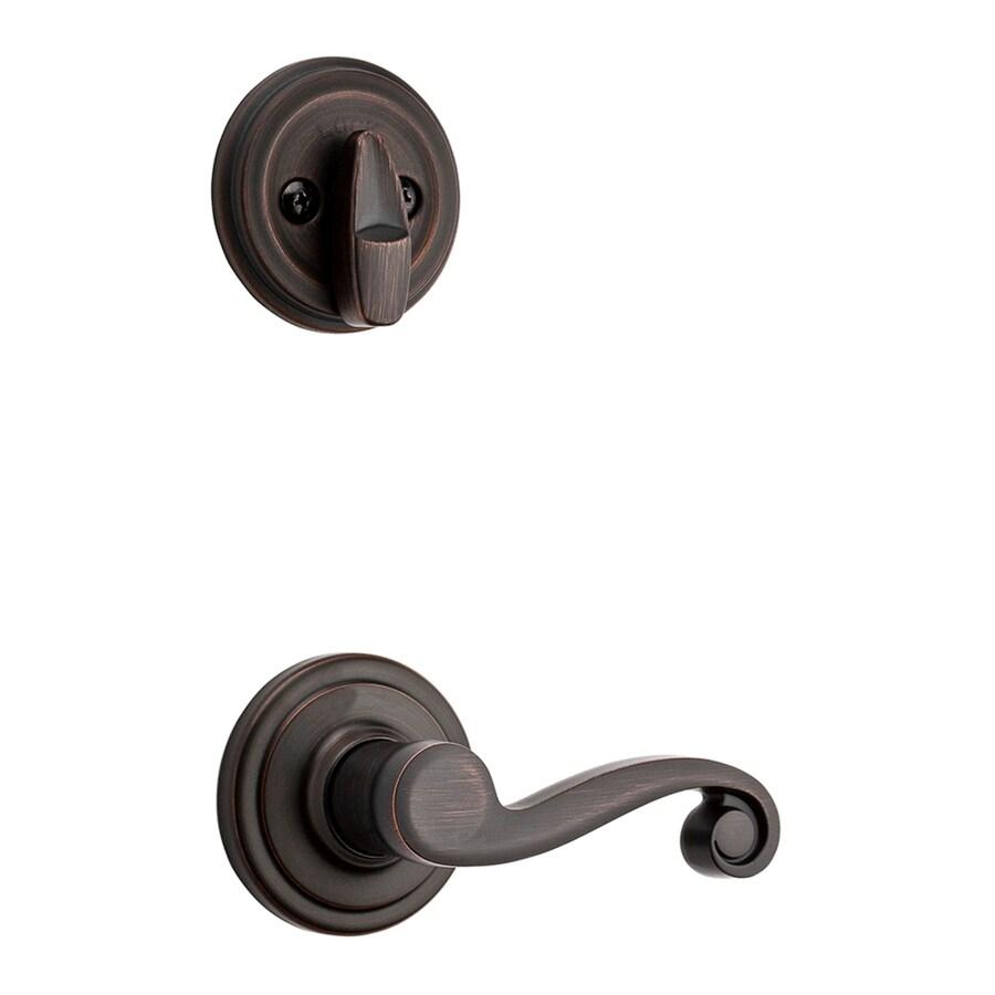 Kwikset Signature Shelburne SmartKey Venetian Bronze Single-Lock Keyed Entry Door Handleset
