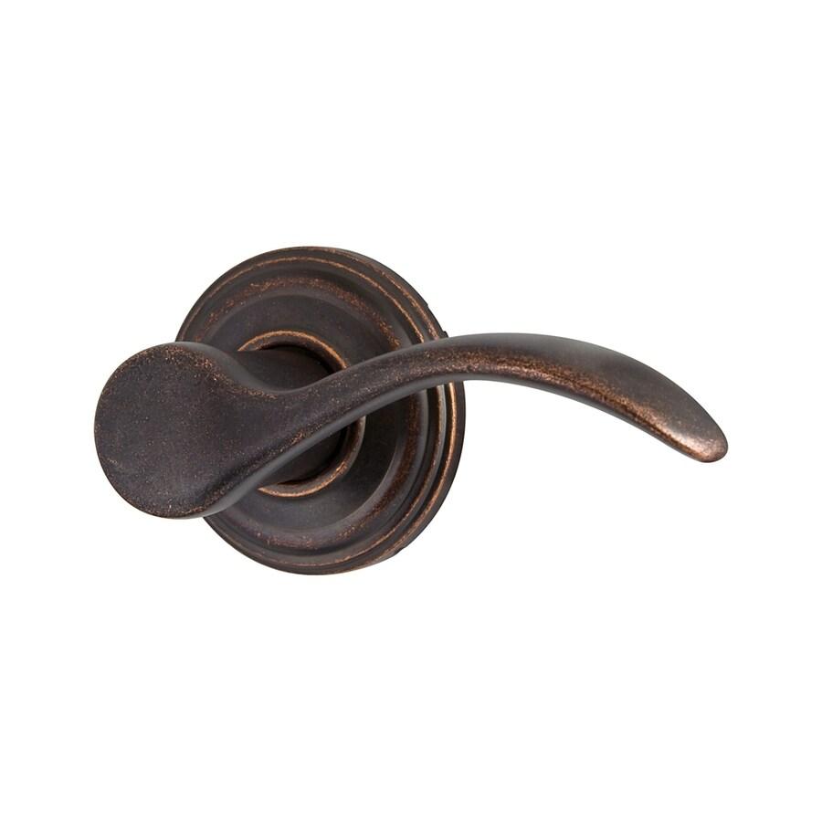 Kwikset Signature Pembroke Rustic Bronze-Handed Passage Door Lever