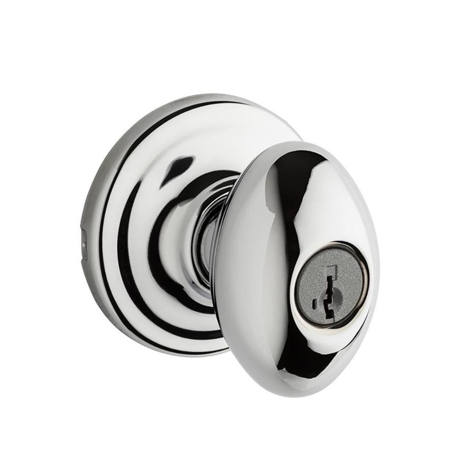 Kwikset Signature Laurel Smartkey Polished Chrome Egg Keyed Entry Door Knob