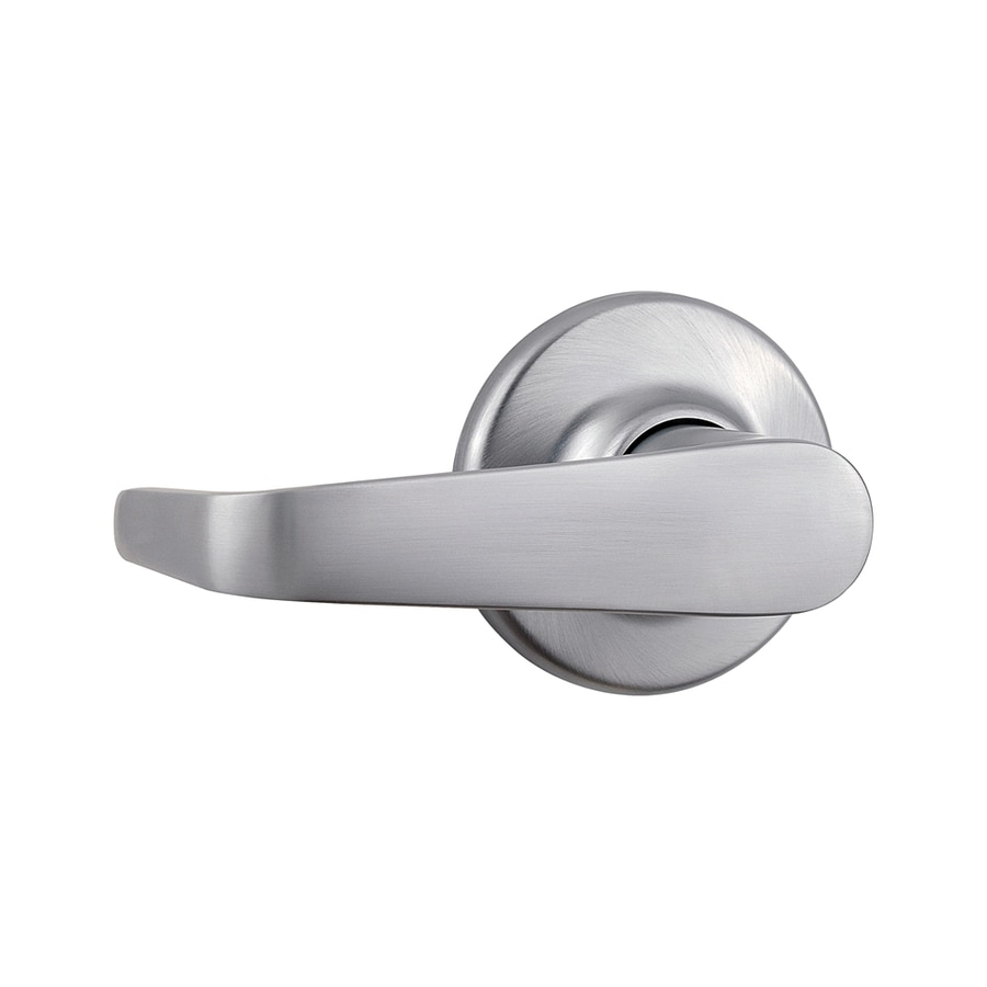 Kwikset Signature Kingston Satin Chrome-Handed Passage Door Lever