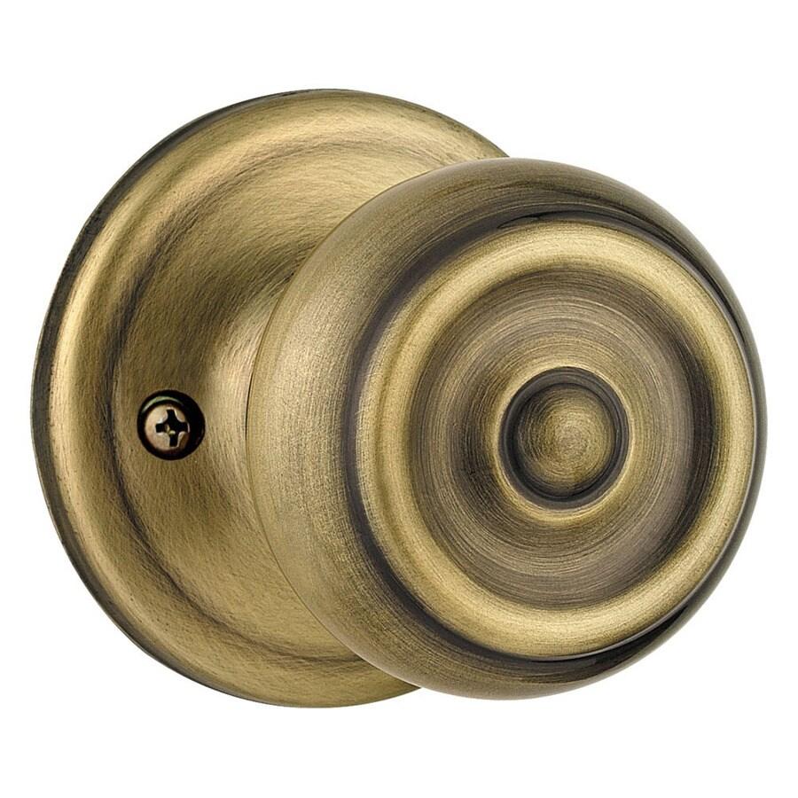 Kwikset Signature Phoenix Antique Brass Dummy Door Knob